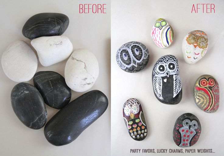 AN EASY CRAFT THAT ROCKS. LITERALLY.   Wondermint Kids makes owl rocks with sharpie paint pens. write #owljoy on the back and leave  your owl rock for someone else to find and tweet a photo.