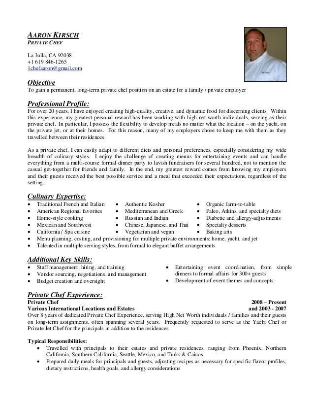 Chef Resumes Chef Resume Sample Writing Guide Resume Genius Resume Objective Examples Chef Resume Resume Examples