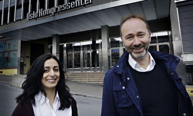 Oslo 20170418  Arbeiderpartiets nestledere Hadia Tajik og Trond Giske før årets landsmøte i Arbeiderpartiet  Foto: Frank Karlsen / Dagbladet