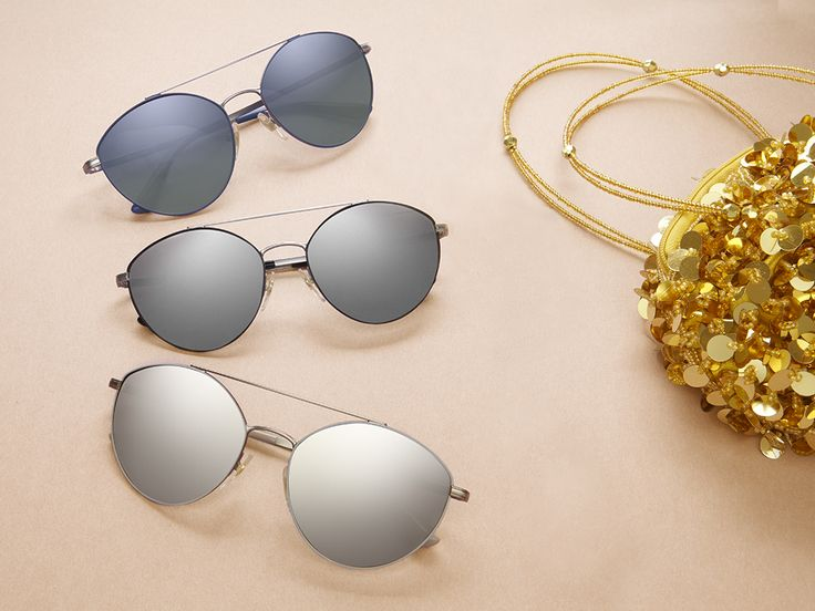 A pair of Vogue Eyewear Light and Shine sunglasses for morning, noon, and night.