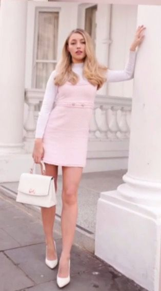 1bd0c4f66953 Freddy my love in a pink tweed zara dress | They call me ranch ...