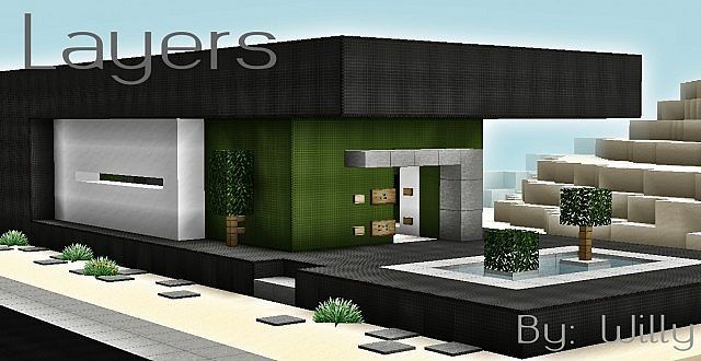 Layers Modern House | Minecraft Building Inc