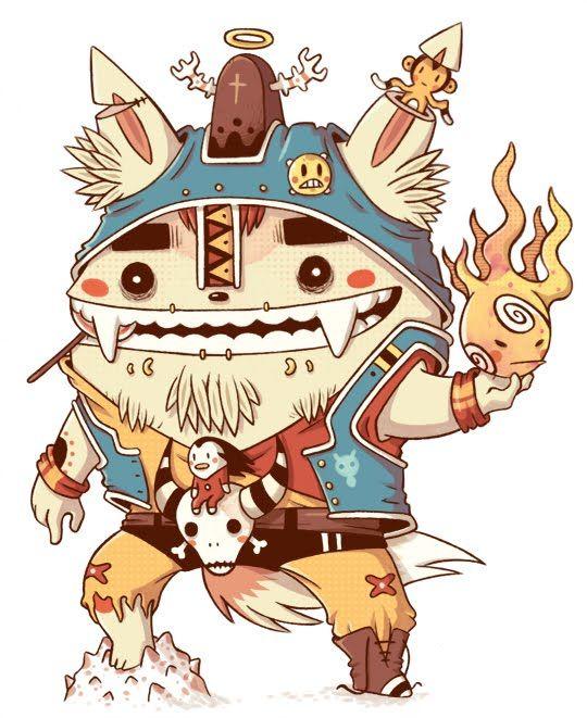 Desafio 300, illustration, character design, cat, feline