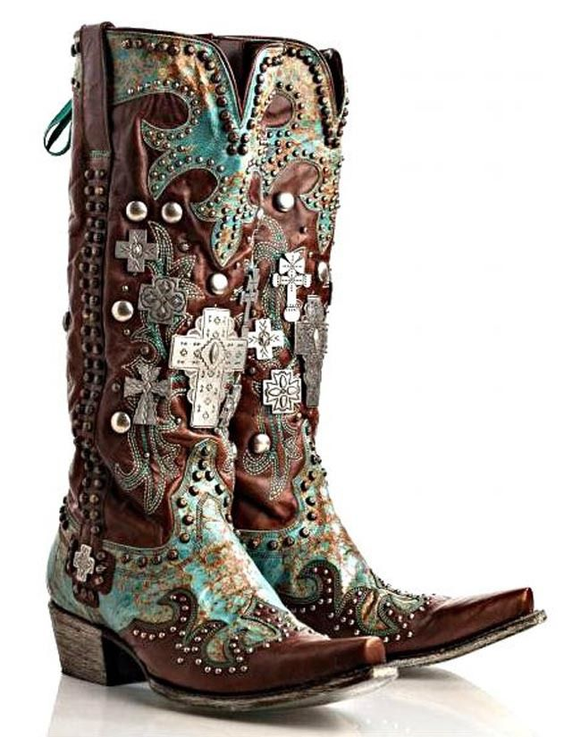 Double D Ranch By Lane Boots Turquoise And Chocolate Ammunition Boots from Stages West