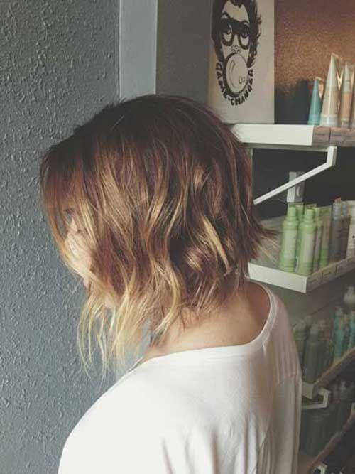 Balyage Bob Hairstyles for Wavy Hair thin