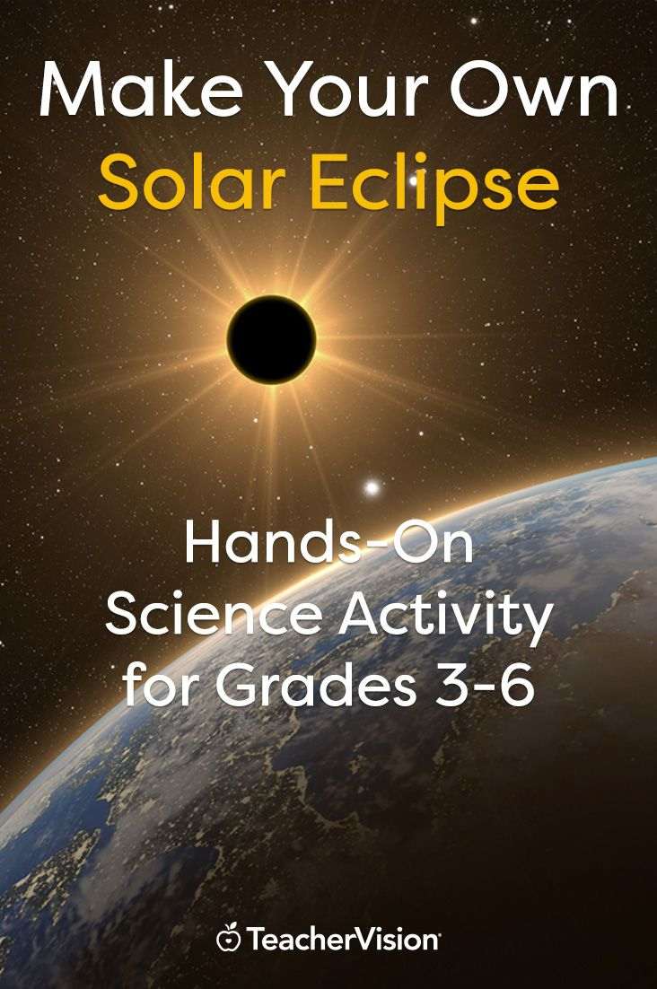 Students learn how and why solar eclipses occur with this hands-on science activity. They create their own eclipse using clay and other materials. (Grades 3-6)