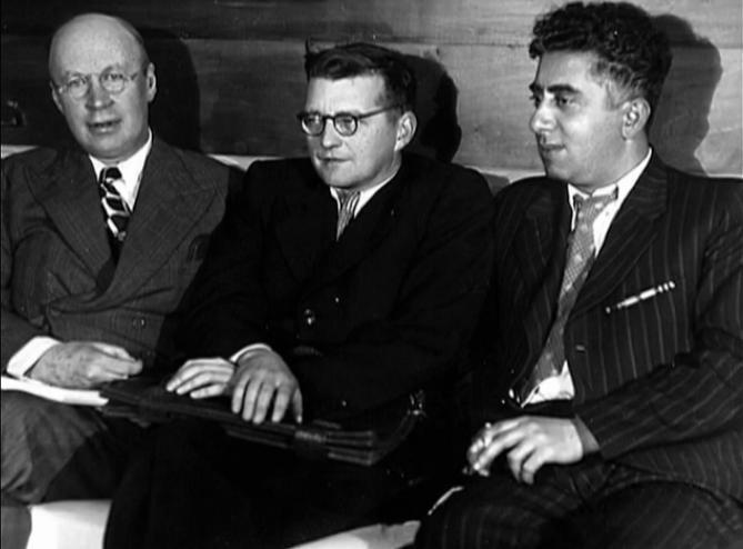 Music Masters Aram Khachaturyan (Right) Georgian Armenian Dmitri Shostakovich (Center) Sergei Prokofiev (Left)