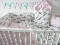 Scandi Baby Bettwäsche 90x120 Wolken Sterne Pastel