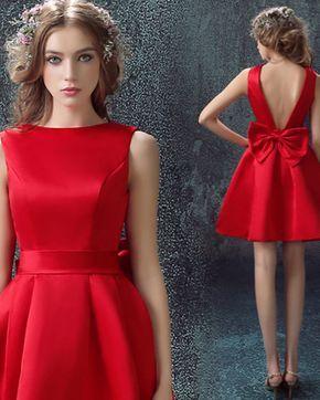 d5be46a4d Vestido rojos 2017 corte princesa