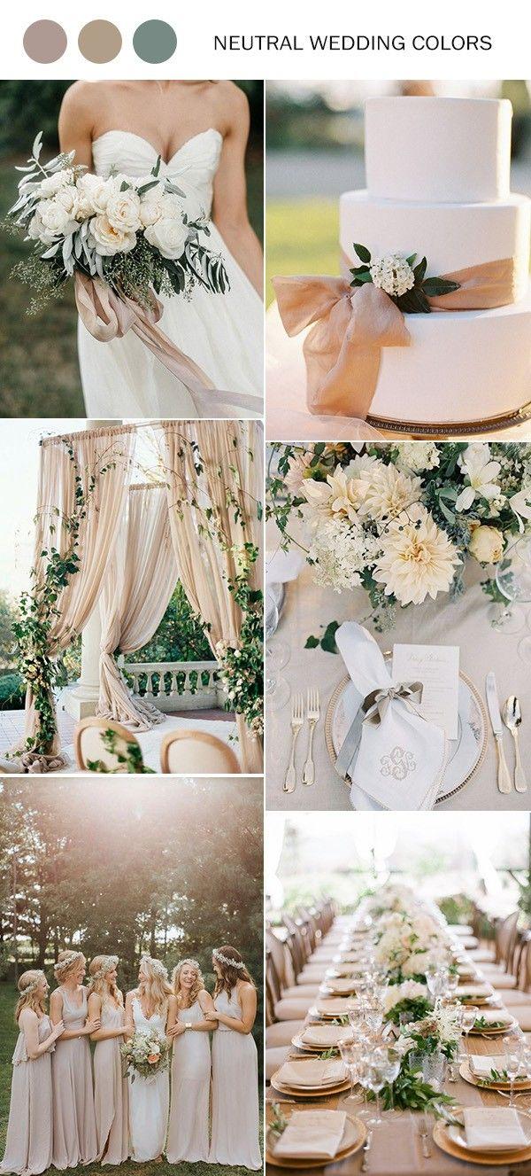 2019 Trending – 40 Elegant Neutral Color Wedding Ideas