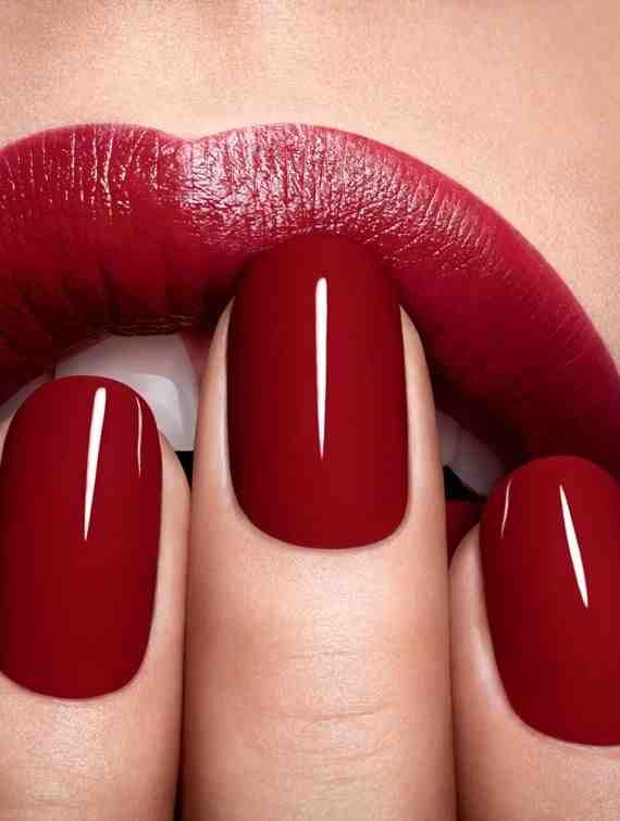 Paint your lips and your nails red before painting the town red!