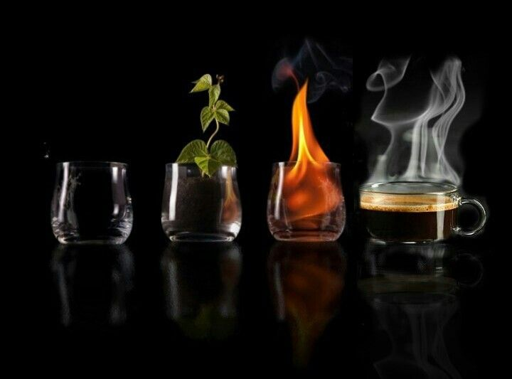 I believe in elements: Air, Earth, Fire and Coffee