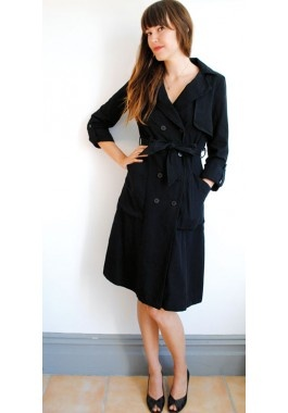 cute organic cotton trench dress
