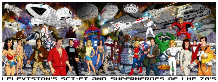 Sci-Fi Heroes of the '70s and '80sNerd Stuff, Geek Stuff, Art, 1970S, Sci Fi Heroes, 70S Scifi, Tvs, Scifi Heroes, Superhero