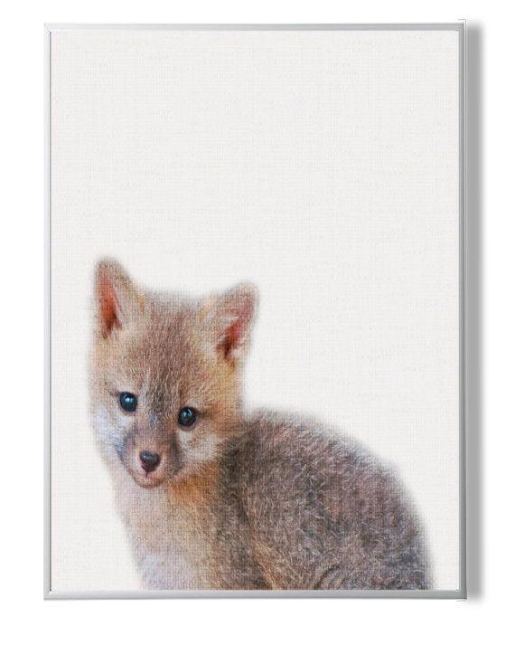 Fox Print Woodlands Animal Wall ArtBaby Animal от YourPrintsShop