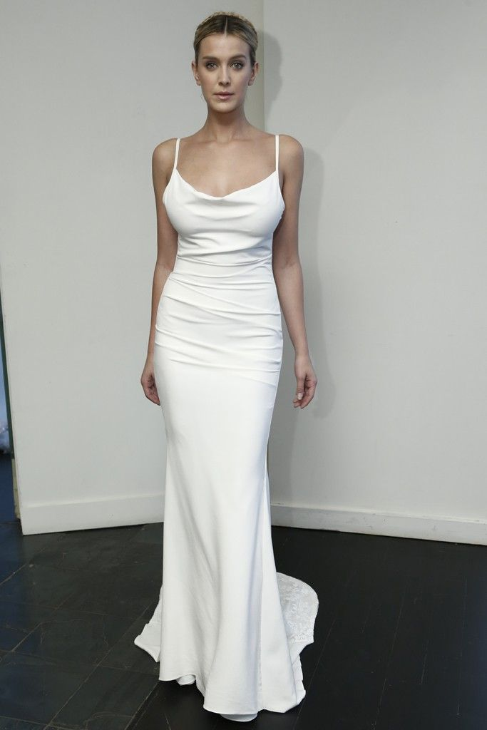 Lace v-neck dress nicole miller