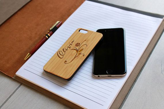 Personalized Iphone 6 case Custom Iphone 6 case Wood by Etchey