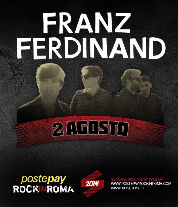 Franz Ferdinand 2 agosto 2014 Postepay Rock in Roma