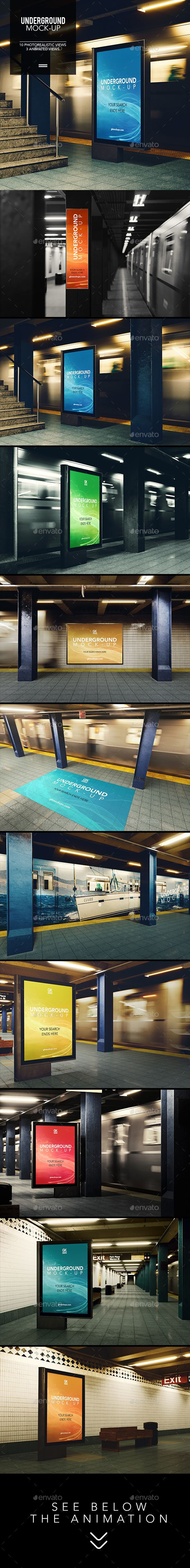 3D Underground / Subway Mock-up / Animated Edition