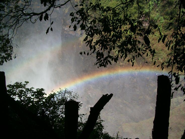 Victoria Falls- Reenboë in oorvloed