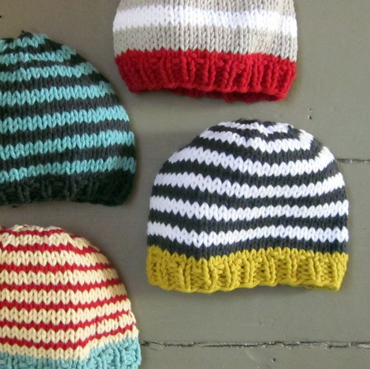 Knit Baby Boys Hat, cotton, goldenrod with charcoal and white stripes, Little Man Little Beanie by sweet baby dolly on Etsy