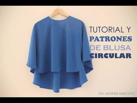 Tutorial y patrones: Blusa circular para mujer :D | Manualidades