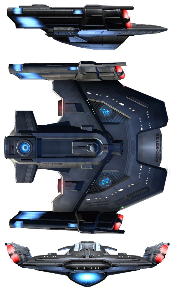 STAR TREK - RAPIER_class_escort_destroyer. (Alternate Rendition)
