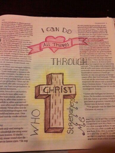 Mijn craftbible. Filippenzen 4:13 ik ben tegen alles bestand door hem die mij kracht geeft.
