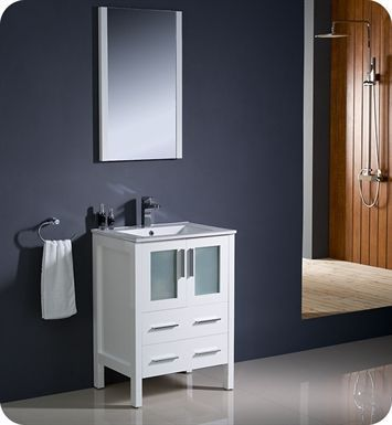 Fresca Fcb6224wh Torino 24 White Modern Bathroom Cabinet
