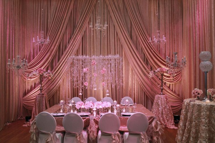 Pink Accents, Decor by Allure Events. www.weddingshows.com
