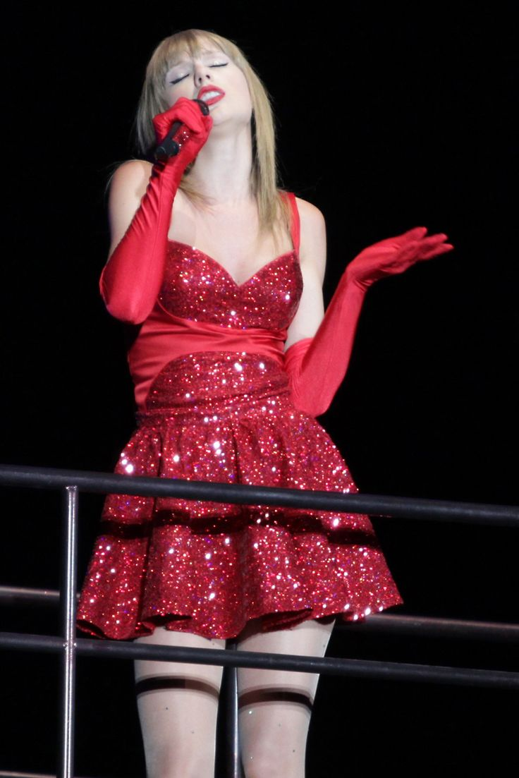 Taylor Swift. RED Tour. Vancouver, Canada --- I have a bit of an obsession with this dress.