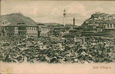 Taş han Kale Zincirli Camii önde Ermeni Mezarlığı