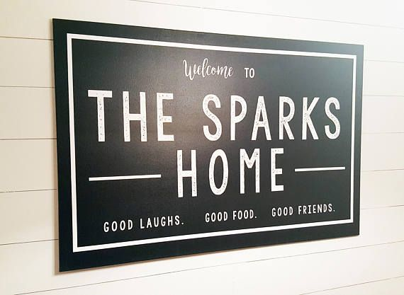 Family signs for home decor