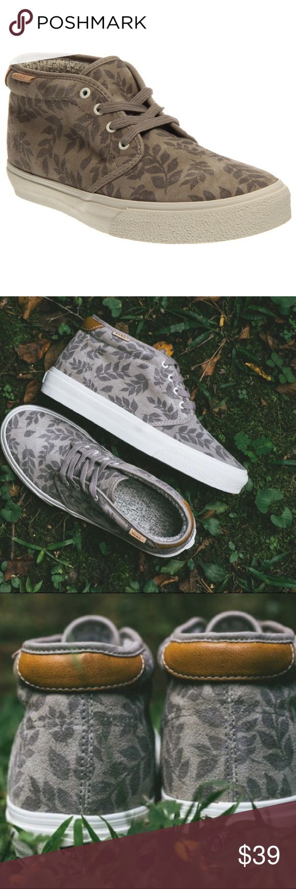 Vans Chukka Boot 69 CA Aluminum Leaf Suedes' -High-grade suede upper with tonal digital leaf pattern for a stylish look.                                          -Lac up closure for a secure fit -Leather Vans flags at collar -Padded collar for added comfort -Durable rubber outsole for maximum grip Vans Shoes Sneakers