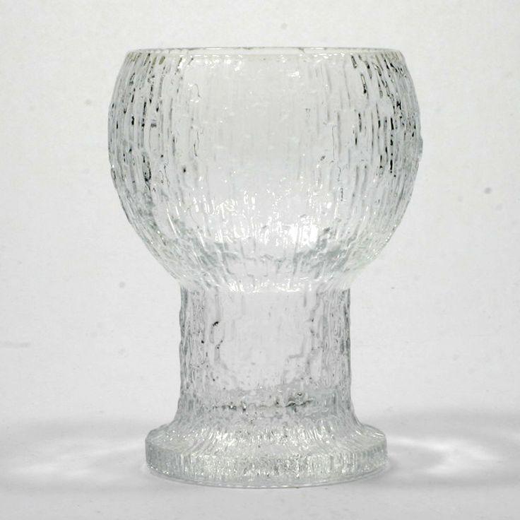 Iittala Kekkerit Water Goblet Art Glass Crystal Scandinavian Timo Sarpaneva