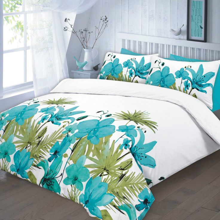 new luxury printed lily floral duvet quilt cover bedding set material absolutely machine washable available in sizes single with 1 pillow case double