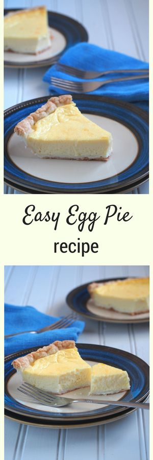 An easy egg pie recipe that is light, tasty and just appropriately sweet. This one is very easy to make.