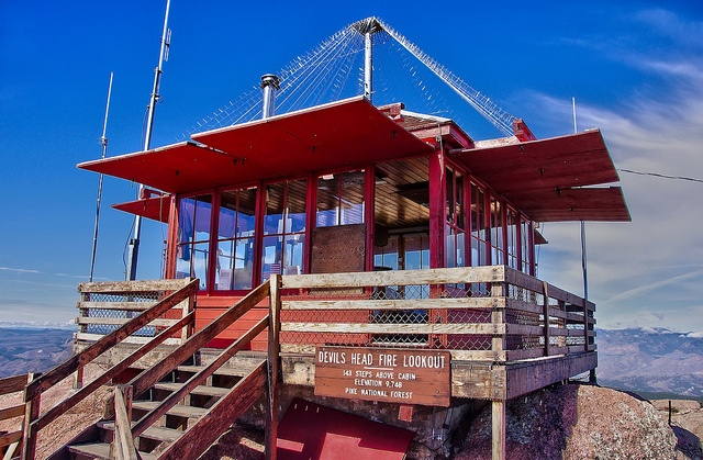 Fire Lookout Devils Head Tower By Wffwii Via Flickr