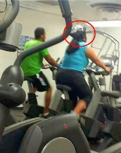 Funny Gym Cyclist Helmet