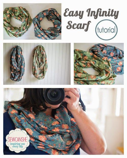 The Easy Infinity Scarf Tutorial from Sew Can She
