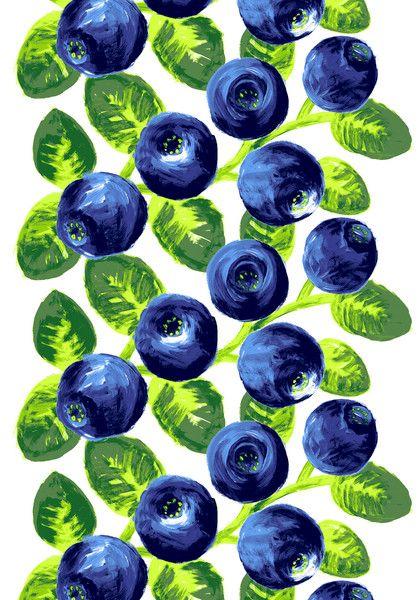 Varpu | Vallila Interior - mustikkakangas blueberry fabric