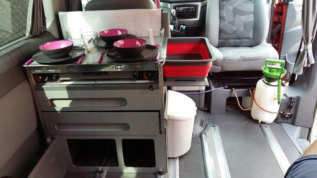 Kuchynka v campervane - Mercedes Viano Fun   Camper dodávkou po svete