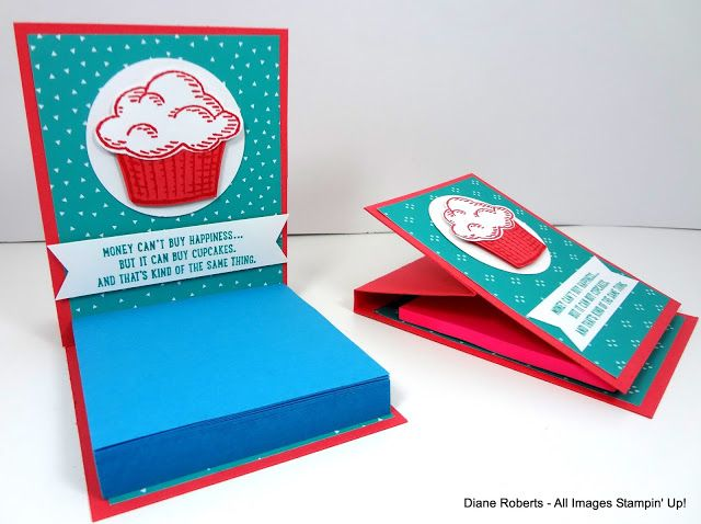 Score at Four and a Quarter: Cupcake Post-It Note Holder