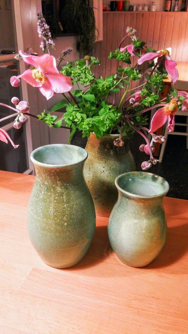 Grønglaserede stentøjsvaser