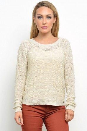 Geena XO L/S Knit Pullover in Pumice Stone