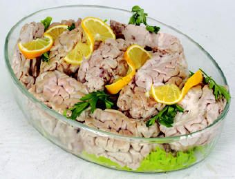 Beyin Salatası, lamb brain salad, turkish food