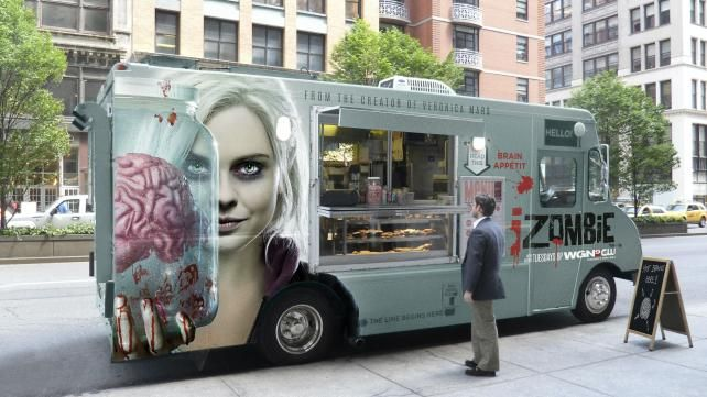 Anyone for the Brain Special? CW Promotes 'iZombie' With Food Trucks - Print (image) - Creativity Online