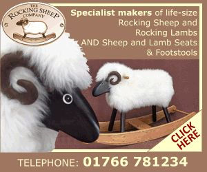 Look at these amazing sheep! Animated Banner Design created for specialist makers of life-size rocking sheep and rocking lambs. Banner Ads size 300 x 250 a standard size banner and a popular size banner.