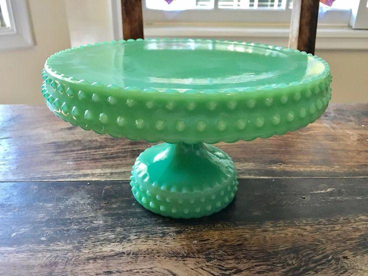 Reproduction Jadeite Cake Stand