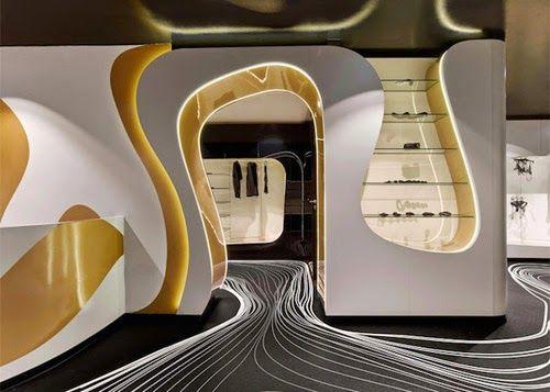 セックスショップ・ミュンヘンのデザインはカリム·ラシッド、従来のセックスショップの猥雑なイメージからかけ離れたクールな空間。